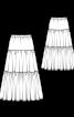 Юбка макси трехъярусная - фото 3