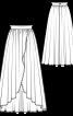 Спідниця довга асиметричного крою - фото 3