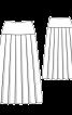 Спідниця максі на кокетці і зі складками - фото 3