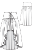 Спідниця багатошарова асиметричного крою - фото 3