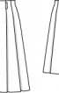 Спідниця в складку із застібкою на кнопки - фото 3