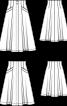 Спідниця А-силуету з високою талією - фото 3
