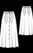 Спідниця довга із наскрізною застібкою на ґудзики - фото 3