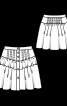 Спідниця міні з оборками - фото 3