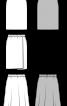 Спідниця пряма з ефектом запаху - фото 3