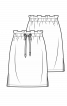 Спідниця простого крою на кулісці зі шнуром - фото 2