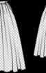 Спідниця пишна на поясі з репсової стрічки - фото 3