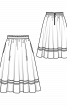 Спідниця міді з кишенями у швах - фото 3