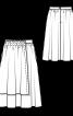 Спідниця пишного крою з відлітною деталлю - фото 3