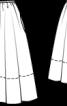Спідниця пишного крою з попліну ламе - фото 3