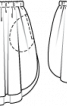 Спідниця твідова з округленим нижнім краєм - фото 3