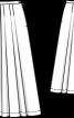 Спідниця лляна пишного крою - фото 3
