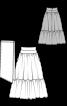 Спідниця максі з широкою оборкою і поясом - фото 3