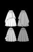Спідниця максі пишного крою на фігурному поясі - фото 3