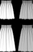 Спідниця міді пишного крою на еластичному поясі - фото 3