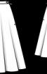 Спідниця двошарова розкльошеного крою - фото 3