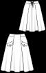 Спідниця А-силуету з глибокими складками - фото 3