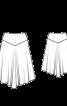 Спідниця фланелева з асиметричним нижнім краєм - фото 3