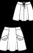 Спідниця міні А-силуету зі складками - фото 3