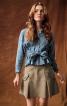 Спідниця міні А-силуету зі складками - фото 1