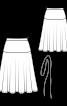 Спідниця розкльошеного силуету з поясом-шнуром - фото 3
