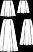 Спідниця-максі атласна з глибокими складками - фото 3