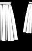 Спідниця А-силуету з асиметричним воланом - фото 3