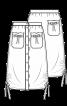 Спідниця з кулісками у бокових швах - фото 3