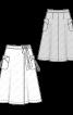 Спідниця довжини міді розкльошеного силуету - фото 3
