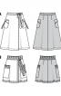 Спідниця довжини міді розкльошеного силуету - фото 6