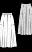 Спідниця максі з атласного шовку - фото 3