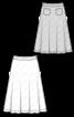 Спідниця міді розкльошеного крою на фігурному поясі - фото 3