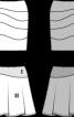 Спідниця трикотажна з асиметричною кокеткою - фото 3