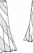 Спідниця довга розкльошеного силуету - фото 3