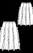 Спідниця А-силуету з воланами в рельєфних швах - фото 3