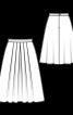 Спідниця міді з м'якими складками - фото 3