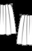 Спідниця міні з м'якими складками - фото 3