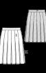 Спідниця в складку з двох видів тканин - фото 3