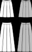 Спідниця розкльошеного крою в складку - фото 3