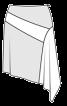 Спідниця з фігурною вставкою і клином годе - фото 3
