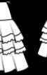 Спідниця міні з пишними воланами - фото 3