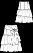 Юбка с макси-оборками - фото 3