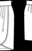 Спідниця прямого крою з запахом - фото 3