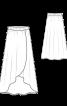 Спідниця з асиметричним низом і ефектом запаху - фото 3