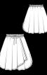 Спідниця пишного крою з боковими розрізами - фото 3