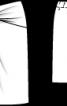 Спідниця прямого крою з переплетеними деталями - фото 3