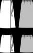 Спідниця А-силуету з запахом - фото 3