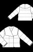 Куртка стьобана з оксамиту - фото 3