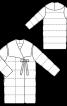 Пальто стьобане прямого крою - фото 3