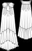 Сукня-бандо з асиметричною спідницею  - фото 3